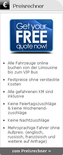 Limousinenservice online Preisrechner