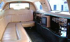 Lincoln Town Car White Innenansicht